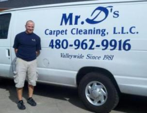 Glen Damiani Mr Ds Carpet Cleaning Van